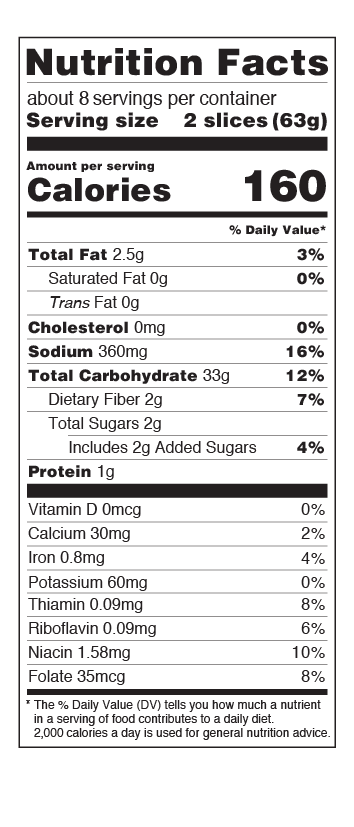 US Whole Grain Nutritional Facts
