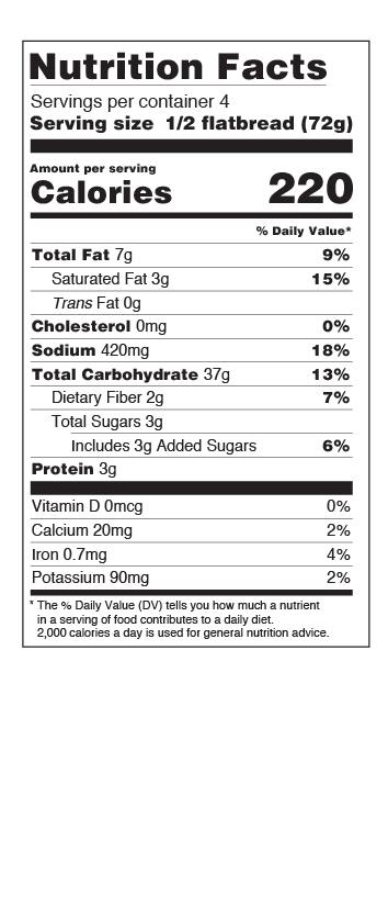Nutritional Info Flatbread US
