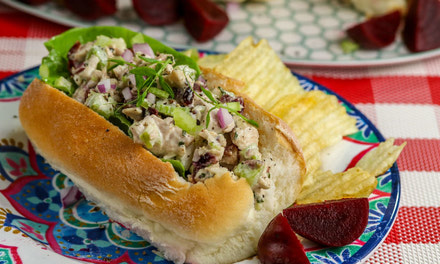 Chicken Salad Sandwich with Herb Dijon Mayo